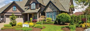 House with nice lawn, lawn care treatment services